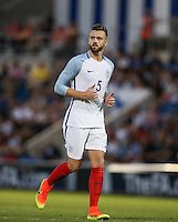 Calum Chambers (Arsenal) of England during the International EURO U21 QUALIFYING - GROUP 9 match between England U21 and Norway U21 at the Weston Homes Community Stadium, Colchester, England on 6 September 2016. Photo by Andy Rowland / PRiME Media Images.