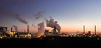 Nederland -  Wijk aan Zee-  2019 . Tata Steel . De vroegere Hoogovens.    Foto Berlinda van Dam / Hollandse Hoogte