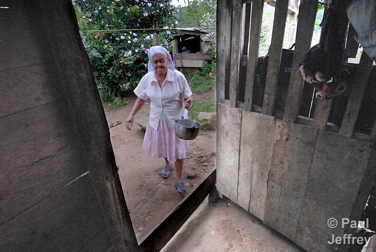 Fidelina Cepulveda, a member of the peace community of San Jose de Apartado, Colombia. In 1997, 1400 war-weary peasants declared they would no longer cooperate with any of the armed parties in the hemisphere's longest-running war. They paid a heavy price for their witness; more than 200 members of the community have been killed. In 2013, two army generals were indicted for a 2005 massacre in the community, and on December 10, 2013, Colombian President Juan Manuel Santos Calderon, in the name of the state, publicly asked the community for forgiveness.
