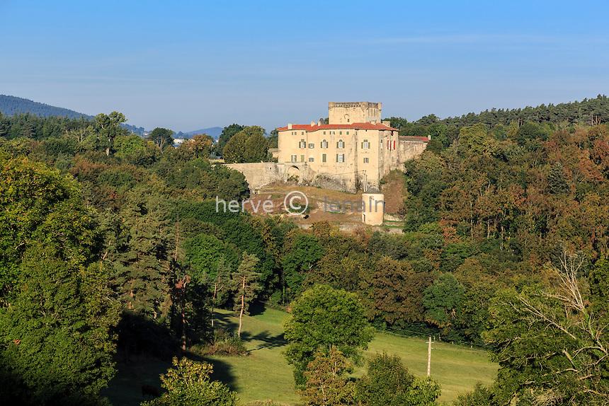 France, Haute-Loire (43), Coubon, château de Poinsac // France, Haute Loire, Coubon, Poinsac castle