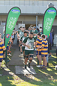 Matthew Vaai leads Manurewa out for the Game of the week. Counties Manukau Premier Club Rugby game between Manurewa and Patumahoe, played at Mountfort Park Manurewa on Saturday June 23rd 2018. Patumahoe won the game 29 - 24 after trailing 12 - 19 at halftime.<br /> Manurewa Kidd Contracting 24 - Petelo Ikenasio, David Osofua, Paolelei Luteru, Pisi Leilua tries, Timothy Taefu 2 conversions,<br /> Patumahoe Troydon Patumahoe Hotel 29 - Kalim North, Shea Furniss, Jonny Wilkinson, Mark Royal, James Brady tries,  Broc Hooper 2 conversions.<br /> Photo by Richard Spranger