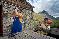 Pragraten am Grossvenediger, East Tyrol, Austria, September 2009. overnight at high altitude at the Essener and Rostocker hut cannot go without the patrons 'hunters' pasta. The new 360 degree Ost Tirol hiking trail runs partly through the High Tauern National Park and is a unique high alpine trail of 360 kilometer. Photo by Frits Meyst/Adventure4ever.com