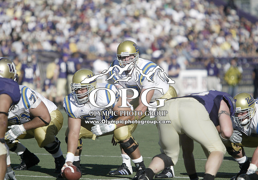 SEPT 23, 2006:  UCLA quarterback Ben Olson calls out the play at the line of scrimmage against the Washington Huskies  at Husky Stadium...The Washington Huskies won 29-19 over the UCLA Bruins at Husky stadium in Seattle, WA.