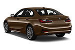 Car pictures of rear three quarter view of a 2019 BMW 3 Series Sport PHEV 4 Door Sedan angular rear
