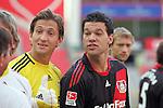 20.07.2010,  BayArena, Leverkusen, GER, 1.FBL, Bayer Leverkusen, Mannschaftsfoto, im Bild: Rene Adler (Leverkusen #1) und Michael Ballack (Leverkusen #13) scherzen  Foto © nph / Mueller