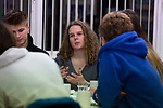 Local Trust Journalist-at-large Louise Tickle interviewing members of We Will, an advocacy group established by young people to campaign for better youth mental health services in Cumbria, pictured in Maryport, where they meet regularly. Pictured is group member Jasmine Dean, 17.