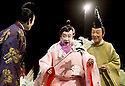 Twelfth Night after William Shakespeare,A Shochiku Grand Kabuki Production directed by Yukio Ninagawa.With Ichikawa Sadanji IV as Sir Toby Belch, Ichikawa Danzo IX as Fabian, Nakamura Kanjaku V as Sir Andrew Aguecheek. Opens at The Barbican Theatre on 24/3/09 CREDIT Geraint Lewis