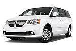 Stock pictures of low aggressive front three quarter view of2015 Dodge Grand Caravan SXT PLUS 5 Door Minivan Low Aggressive