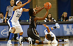 UK guard Kastine Evans (L) and point guard Amber Smith (R) scramble for the ball during the second half of the UK Women's basketball game against Southern Miss on 11/19/11 in Lexington, KY. Photo by Quianna Lige | Staff