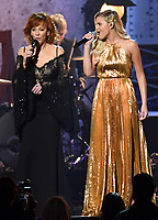 08 November 2017 - Nashville, Tennessee - Reba McEntire and Kelsea Ballerini. 51st Annual CMA Awards, Country Music's Biggest Night, held at Bridgestone Arena.  <br /> CAP/ADM/LF<br /> &copy;LF/ADM/Capital Pictures