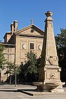 Espagne, Navarre, Pampelune, Couvent des Augustines Récollettes sur  la Place Recoletas, // Spain, Navarra, Pamplona,  Convents of the Augustinian Recollect nuns