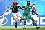 17.07.2010,  Augsburg, GER, FIFA U20 Womens Worldcup, Nigeria vs Japan,  im Bild Saki KUMAGAI  (Japan Nr.5) und Ebere ORJI (Nigeria Nr.8)  , Foto: nph /  Straubmeier