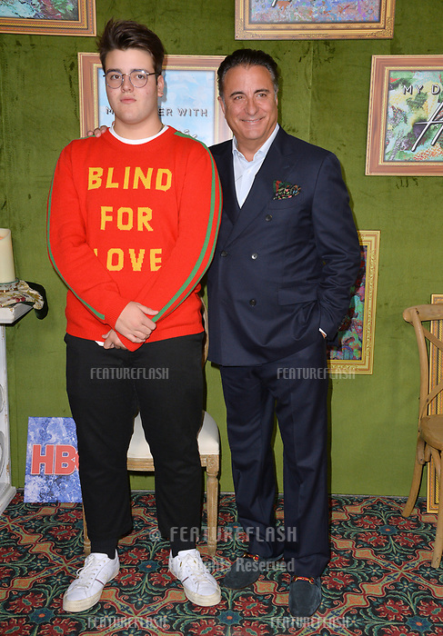 LOS ANGELES, CA. October 04, 2018: Andy Garcia &amp; Andres Garcia-Lorido at the Los Angeles premiere for &quot;My Dinner With Herve&quot; at Paramount Studios.<br /> Picture: Paul Smith/Featureflash