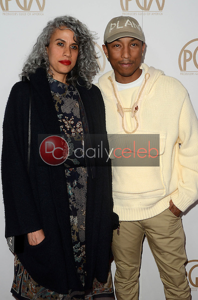Pharrell Williams<br /> at the 2017 Producers Guild Awards, Beverly Hilton Hotel, Beverly Hills, CA 01-28-17<br /> David Edwards/DailyCeleb.com 818-249-4998
