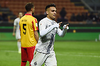 Lautaro Martinez  of Internazionale celebrates after scoring a goal <br /> Milano 13-1-2019 Stadio Giuseppe Meazza <br /> Football Italy Cup 2018/2019 Inter - Benevento 6-2 <br /> Foto Image Sport  / Insidefoto