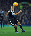 Shinji Okazaki of Leicester City <br /> - Barclays Premier League - Everton vs Leicester City - Goodison Park - Liverpool - England - 19th December 2015 - Pic Robin Parker/Sportimage