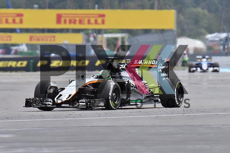 Nr.27 Nico Hulkenberg im FORCE INDIA MERCEDES bei der Formel 1 auf dem Hockenheimring.<br /> <br /> Foto &copy; PIX-Sportfotos *** Foto ist honorarpflichtig! *** Auf Anfrage in hoeherer Qualitaet/Aufloesung. Belegexemplar erbeten. Veroeffentlichung ausschliesslich fuer journalistisch-publizistische Zwecke. For editorial use only.