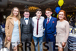 Enjoying the St. Senans GAA Social at the Rose Hotel on Friday were Roisin McElligott, Timmy Dillon, Eoghan Behan, Killian Trent, Moira Trent