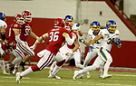 VERMILLION, SD - NOVEMBER 18: Isaac Wallace #35 from South Dakota State University breaks loose against the University of South Dakota during their game Saturday afternoon at the DakotaDome in Vermillion. (Photo by Dave Eggen/Inertia)