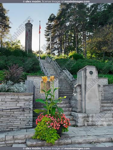 Woodbridge War Memorial Tower. Woodbridge, Vaughan, Ontario, Canada.