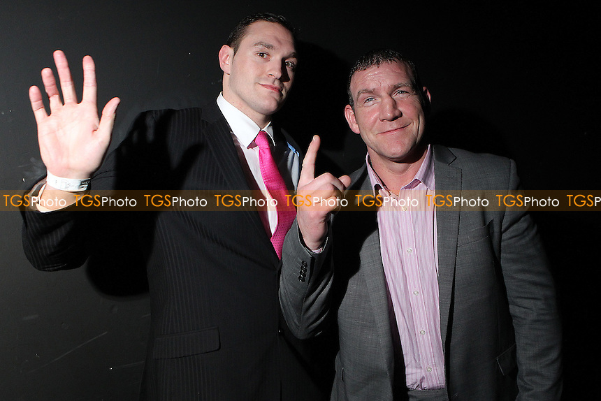 Tyson Fury and Martin Rogan promote their upcoming fight ,Boxing contest at the Magna Centre, Rotherham, promoted by Hennessy Sports - 18/02/12 - MANDATORY CREDIT: Chris Royle/TGSPHOTO - Self billing applies where appropriate - 0845 094 6026 - contact@tgsphoto.co.uk - NO UNPAID USE...