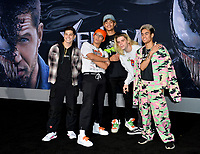 "LOS ANGELES, CA. October 01, 2018: PrettyMuch, Nick Mara, Brandon Arreaga, Austin Porter, Zion Kuwonu & Edwin Honoret at the world premiere for ""Venom"" at the Regency Village Theatre.<br /> Picture: Paul Smith/Featureflash"
