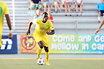 01 August 2015: Tampa Bay's Gale Agbossoumonde. The Carolina RailHawks hosted the Tampa Bay Rowdies FC at WakeMed Stadium in Cary, North Carolina in a North American Soccer League 2015 Fall Season match. The game ended in a 1-1 tie.