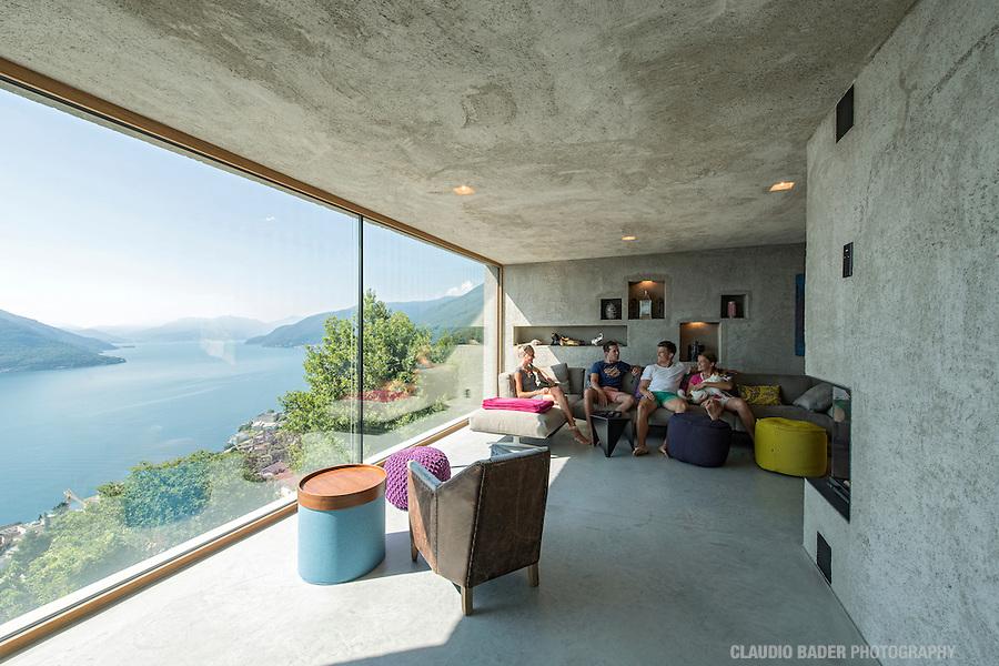 House in Brissago (Ticino), Lago Maggiore by Architects Wespi & deMeuron