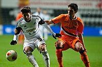 Thursday 28 November  2013  Pictured:<br /> Re:UEFA Europa League, Swansea City FC vs Valencia CF  at the Liberty Staduim Swansea