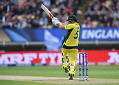 June 10th 2017, Edgbaston, Birmingham, England;  ICC Champions Trophy Cricket, England versus Australia; Aaron Finch of Australia pulls the ball