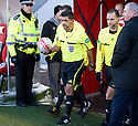 27/11/2010   Copyright  Pic : James Stewart.sct_jsp017_hamilton_v_st_mirren  .::  ISRAELI REFEREE MEIR LEVI LEADS THE TEAMS OUT ::.James Stewart Photography 19 Carronlea Drive, Falkirk. FK2 8DN      Vat Reg No. 607 6932 25.Telephone      : +44 (0)1324 570291 .Mobile              : +44 (0)7721 416997.E-mail  :  jim@jspa.co.uk.If you require further information then contact Jim Stewart on any of the numbers above.........
