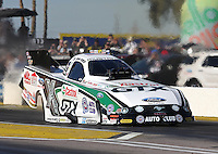 Feb. 22, 2013; Chandler, AZ, USA; NHRA funny car driver John Force during qualifying for the Arizona Nationals at Firebird International Raceway. Mandatory Credit: Mark J. Rebilas-