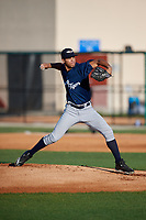 Lakeland Flying Tigers starting pitcher Jesus Rodriguez (37) during a Florida State League game against the Dunedin Blue Jays on April 18, 2019 at Jack Russell Memorial Stadium in Clearwater, Florida.  Dunedin defeated Lakeland 6-2.  (Mike Janes/Four Seam Images)
