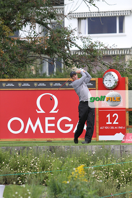 Ross Fisher (ENG) on the 12th on Day 2 of the Omega European Masters 2012, Golf Club Crans-Sur-Sierre, Crans Montana, Switzerland, 31/8/12...(Photo Jenny Matthews/www.golffile.ie)