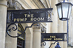 The Pump Room at the Roman Baths, Bath, England, UK