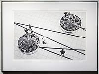 """Framed Size 22""""h x 30""""w, $625.<br /> Graphite Nielsen 15 metal frame"""