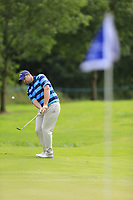 Duncan Stewart (SCO) chips onto the 9th green during Sunday's Final Round of the Northern Ireland Open 2018 presented by Modest Golf held at Galgorm Castle Golf Club, Ballymena, Northern Ireland. 19th August 2018.<br /> Picture: Eoin Clarke | Golffile<br /> <br /> <br /> All photos usage must carry mandatory copyright credit (&copy; Golffile | Eoin Clarke)