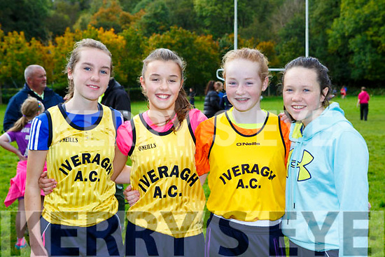 Iveragh Ac athletes Deirdre Kelly, Aoife Dwyer, Sarah Miller and Niamh Daly at the Kerry Juvenile Cross Country championships in Killarney on Sunday