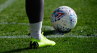 A close up of the boots of Lincoln City's Danny Rowe<br /> <br /> Photographer Chris Vaughan/CameraSport<br /> <br /> The EFL Sky Bet League Two - Carlisle United v Lincoln City - Friday 19th April 2019 - Brunton Park - Carlisle<br /> <br /> World Copyright © 2019 CameraSport. All rights reserved. 43 Linden Ave. Countesthorpe. Leicester. England. LE8 5PG - Tel: +44 (0) 116 277 4147 - admin@camerasport.com - www.camerasport.com
