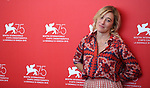 Photocall at the 75th Venice Film Festival  at in Venice, on September 5, 2018.  Valeria Bruni Tedeschi
