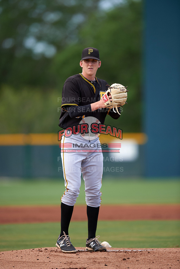 Pittsburgh Pirates Brandon Waddell (61) during a minor league Spring Training intrasquad game on April 3, 2016 at Pirate City in Bradenton, Florida.  (Mike Janes/Four Seam Images)