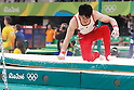 Kohei Uchimura (JPN), <br /> AUGUST 6, 2016 - Artistic Gymnastics : <br /> Men's Qualification <br /> Horizontal Bar <br /> at Rio Olympic Arena <br /> during the Rio 2016 Olympic Games in Rio de Janeiro, Brazil. <br /> (Photo by Sho Tamura/AFLO SPORT)
