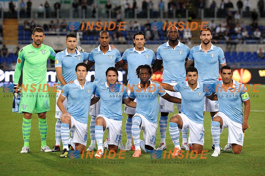 """Formazione Lazio.Lazio team Lineup.Roma 4/9/2012 Stadio """"Olimpico"""".Football Calcio Europa League 2012/2013.Lazio Vs Maribor.Foto Andrea Staccioli Insidefoto"""