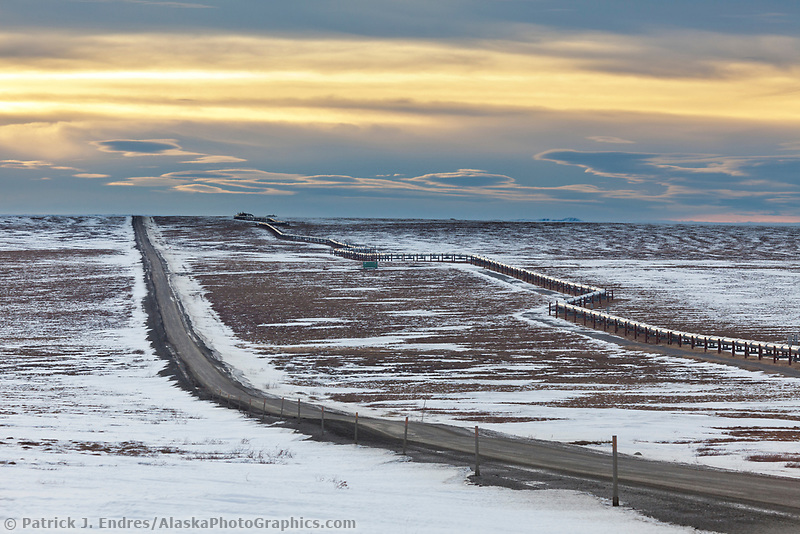James Dalton Highway, the Haul road, in winter conditions.