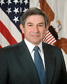 Washington, DC - June 5, 2001 -- Official portrait of United States Deputy Secretary of Defense Paul Wolfowitz.  <br /> Credit: DoD via CNP