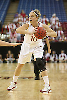 SACRAMENTO, CA - MARCH 29: JJ Hones during Stanford's 55-53 win over Xavier in the NCAA Women's Basketball Championship Elite Eight on March 29, 2010 at Arco Arena in Sacramento, California.