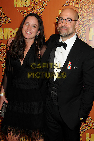GUEST & STANLEY TUCCI .HBO's 2010 67th Golden Globe Awards Post Party held at the Beverly Hilton Hotel, Beverly Hills, California, USA..January 17th, 2009.globes half length dress tuxedo glasses  black white bow tie .CAP/ADM/BP.©Byron Purvis/Admedia/Capital Pictures