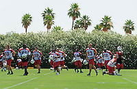 Jun 9, 2008; Tempe, AZ, USA; Arizona Cardinals players during mini camp at the Cardinals practice facility. Mandatory Credit: Mark J. Rebilas-