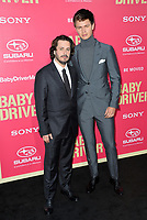 Edgar Wright &amp; Ansel Elgort at the Los Angeles premiere for &quot;Baby Driver&quot; at the Ace Hotel Downtown. <br /> Los Angeles, USA 14 June  2017<br /> Picture: Paul Smith/Featureflash/SilverHub 0208 004 5359 sales@silverhubmedia.com