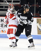 Jillian Kirchner (BU - 18), Alyse Ruff (Providence - 21) - The Boston University Terriers defeated the Providence College Friars 5-3 on Saturday, November 14, 2009, at Agganis Arena in Boston, Massachusetts.